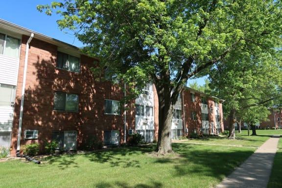 Outside at Pine Ridge Apartments in Moline Illinois