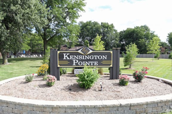 Sign at Kensington Pointe Apartments in Madison Wisconsin