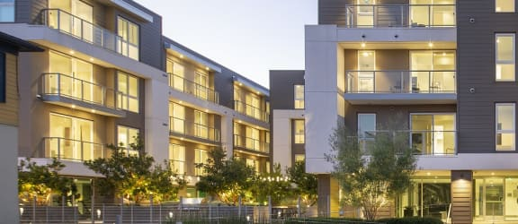 Evening View Of The Property at Concourse, Los Angeles, CA, 90045