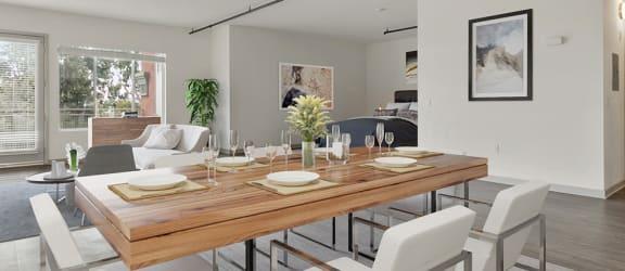 studio apartment with furniture