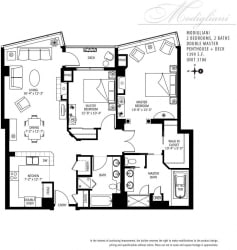 Met Tower Apartments Modigliani Floor Plans