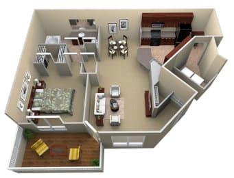 A2 Floor Plan Layout, Walton Lakes, Atlanta GA