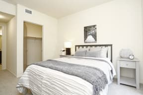 El Cerrito Apartments-Metro 510 Luxury Bedroom with Carpeted Floor and Large Closet
