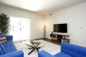 Apartments in El Cerrito CA-Metro 510 Spacious Living Room with Hardwood Floors and Balcony Access