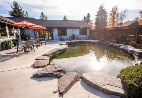 Tacoma Apartments - The Lodge at Madrona Apartments - Community Patio