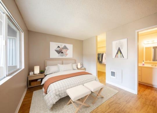 1 Bed - Bedroom & Bath