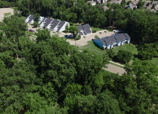Aerial View Of Community at Raleigh House Apartments, MRD Apartments, East Lansing, Michigan