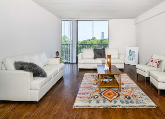 Modern Living Room at Memorial Towers Apartments, The Barvin Group, Houston, Texas