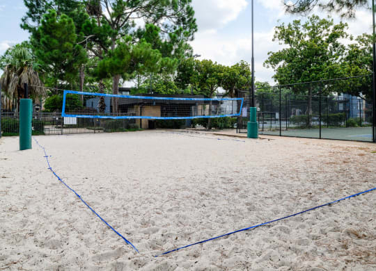 Sand Volleyball Court at Park at Voss Apartments, The Barvin Group, Houston, TX
