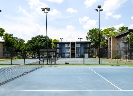 Tennis Courts at Park at Voss Apartments, The Barvin Group, Houston, TX, 77057