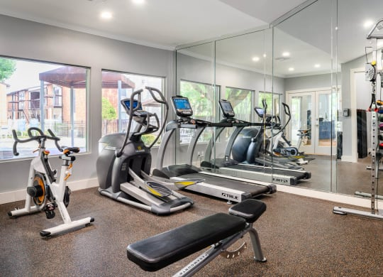 Cardio Studio Equipment at The Daphne Apartments, The Barvin Group, Houston, TX, 77054