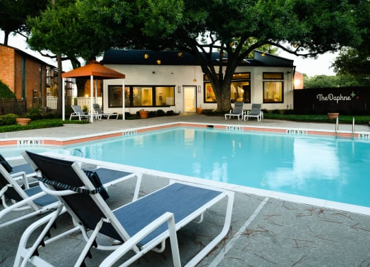 Pool With Sunning Deck at The Daphne Apartments, The Barvin Group, Texas, 77054