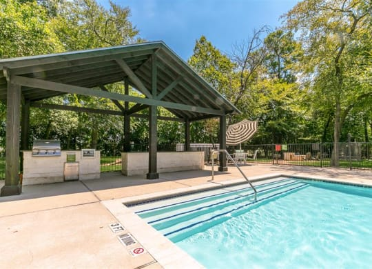 Sun Deck And Poolside Cabanas at The Grove at White Oak  Apartments, The Barvin Group, Texas