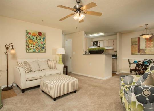 Litchfield Oaks Apartments Living Area at Litchfield Oaks Apartments, South Carolina, 29585