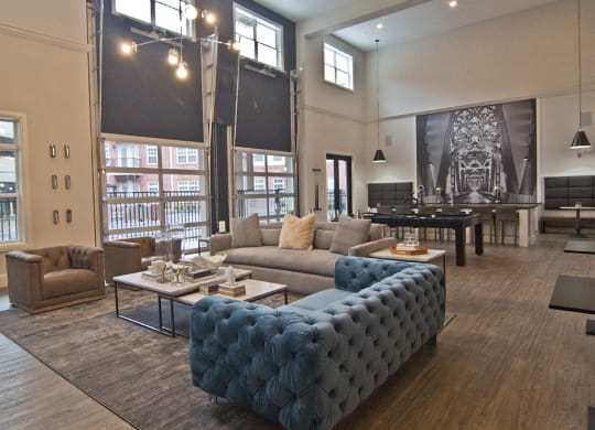 Community room at The Baxter, Louisville