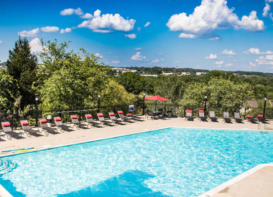Swimming Pool at Chimney Top Apartments in Antioch TN