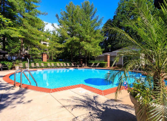 Pool area at Beacon Place Apartments, Gaithersburg, Maryland