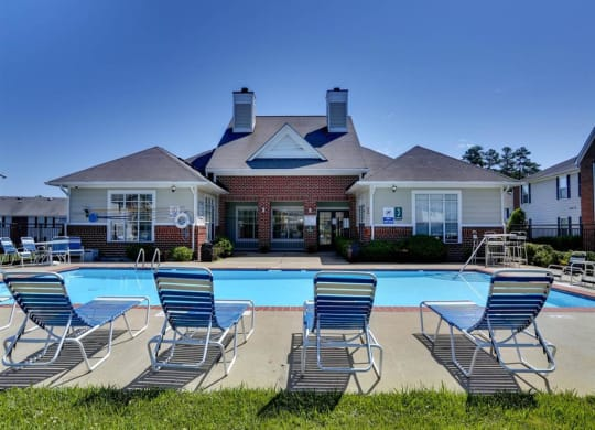 Pool at Meriwether Apartments in Durham NC