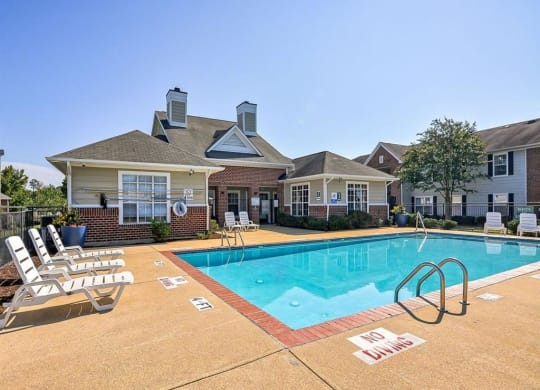 Pool 2 at Meriwether Apartments in Durham NC