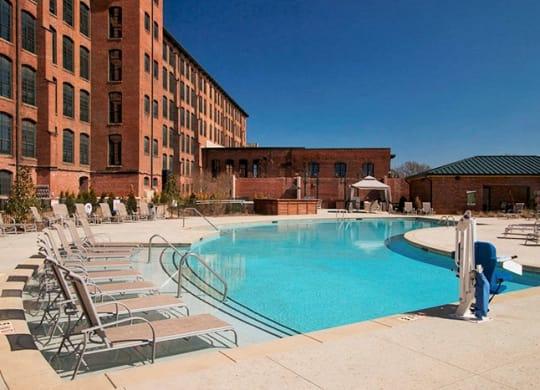 Pool at Loray Mill Lofts Apartments