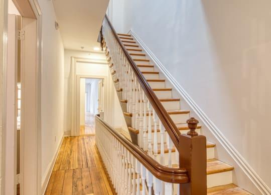 Stairs at Linden Row Apartments Richmond VA
