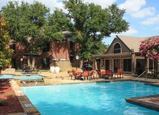 Beautiful swimming pool at Sierra Park, Dallas, Texas