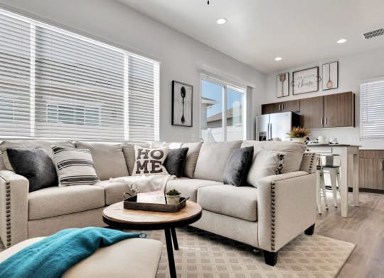 Modern Living Room at Parke Place Apartments, P.B. BELL Assets Management Prescott Valley, AZ