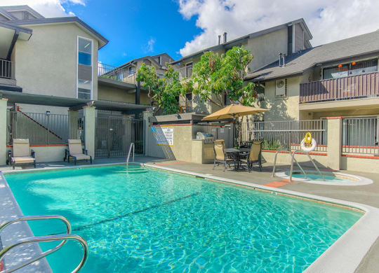 Swimming Pool With Relaxing Sundecks at Independence Plaza, Canoga Park, CA, 91304