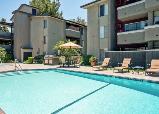 Invigorating Swimming Pool at Nortview-Southview Apartment Homes, Reseda, CA