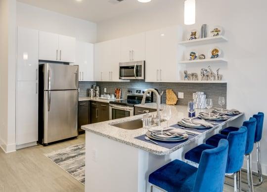 Model kitchen at Link Apartments® Grant Park, Georgia