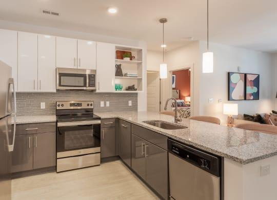 Kitchen at Link Apartments® Linden, Chapel Hill, NC
