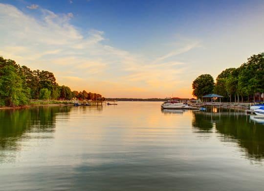 Exteriors Beautiful Lake Views at LangTree Lake Norman Apartments, Mooresville, North Carolina