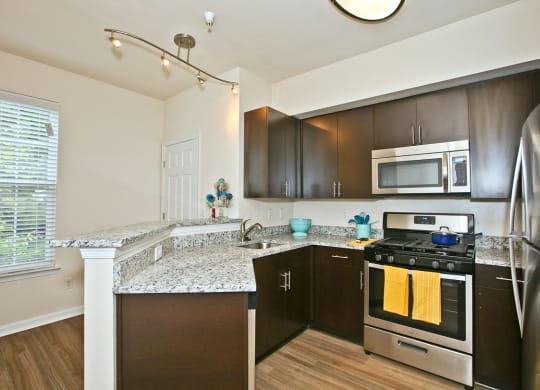 Renovated Kitchens featuring Stainless Steel Smart Appliances at Broadlands at Broadlands, Virginia, 20148