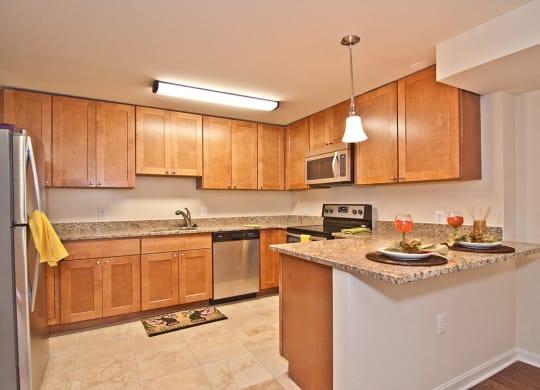Beautifully Renovated Kitchen With Abundant Cabinet Space at Oaklawn, Washington, DC, 20010