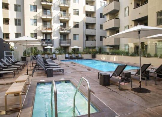 Hot Tub And Swimming Pool at 1724 Highland, Los Angeles, 90028