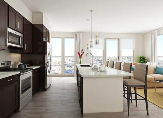 Well Organised Kitchen at Azure Houston Apartments, Texas, 77007