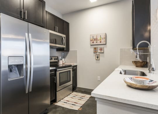Stainless Steel Fixtures at Azure Houston Apartments, Houston