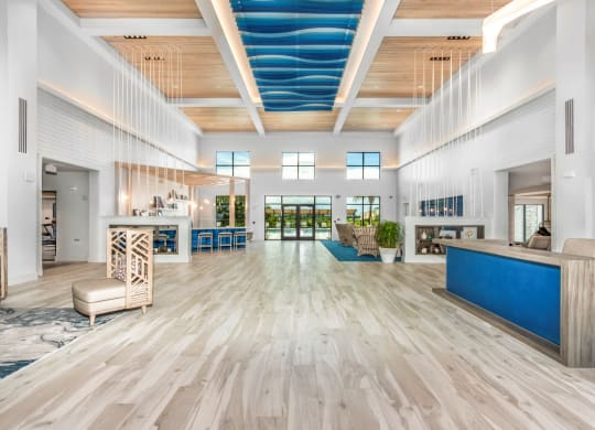 Lobby of the leasing office of the Westerly Winter Garden, FL