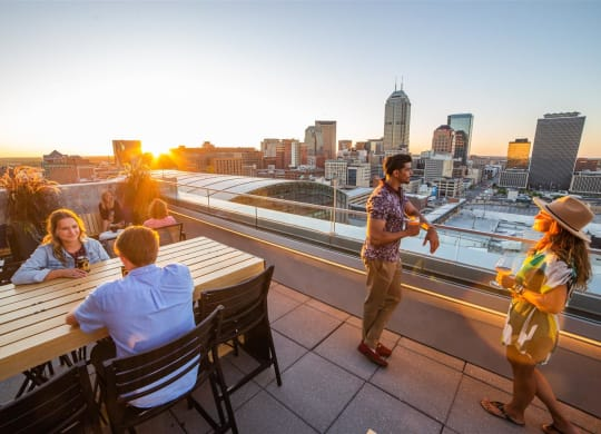 Rooftop Lounge at CityWay, Indianapolis, 46204