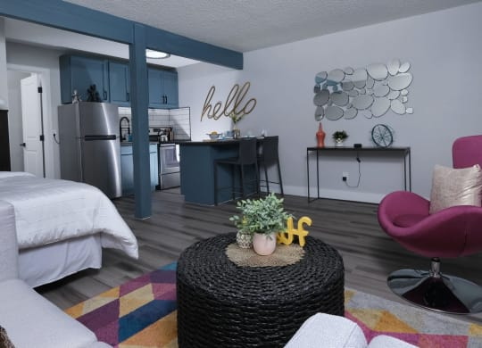 Fusion Apartments - Living Room