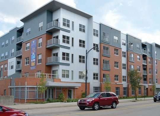 Building Exterior of Hot Metal Flats in Pittsburgh, PA 15203