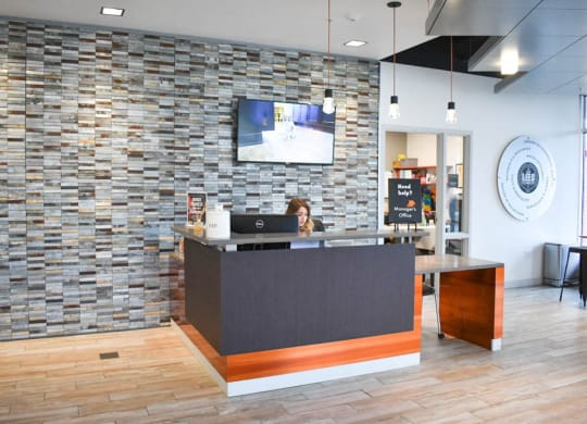 Lobby, Hot Metal Flats apartments, Pittsburgh, PA