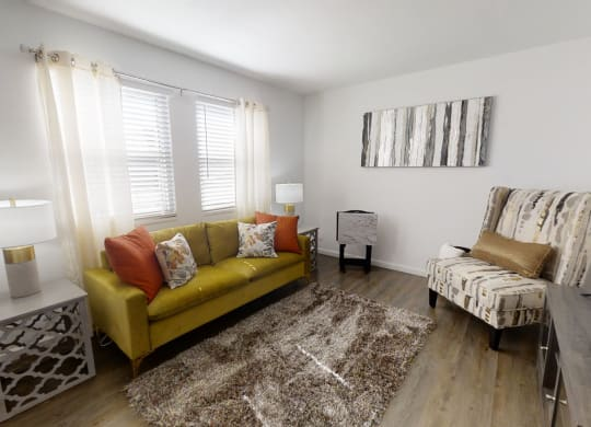 Modern Living Room at Coldwater Flats, Evansville, Indiana