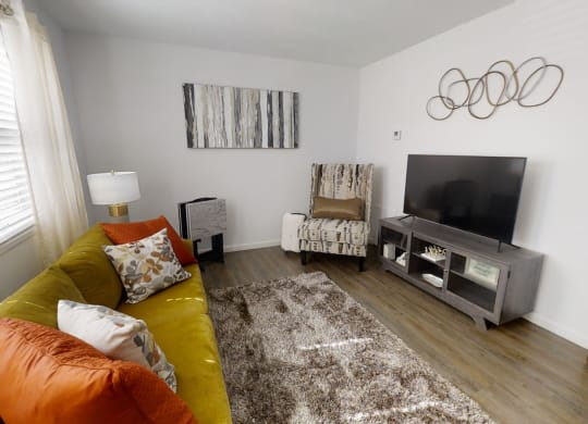 Living Room With Television at Coldwater Flats, Evansville, 47714