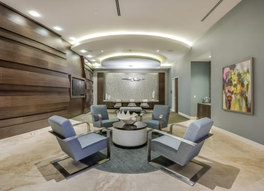 Lobby Lounge Space at Amaray Las Olas by Windsor, Fort Lauderdale, Florida