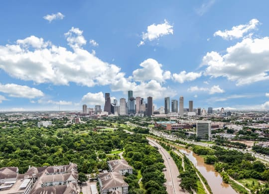 Views of Downtown Houston at Windsor Memorial, Houston, 77007