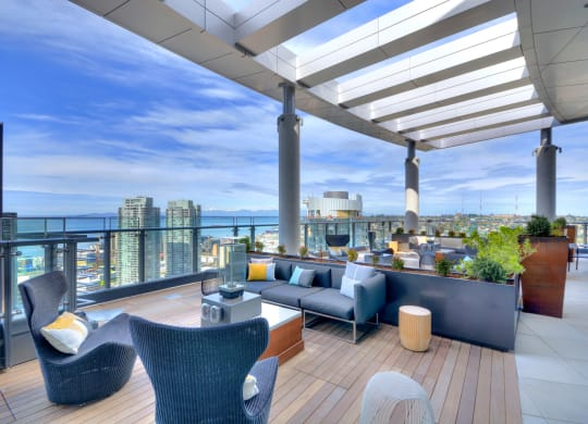 Outdoor Terrace with Breathtaking Views at Stratus, 98121, WA