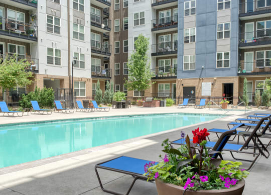 Resort style pool at Windsor at Broadway Station, 1145 S. Broadway, 80210