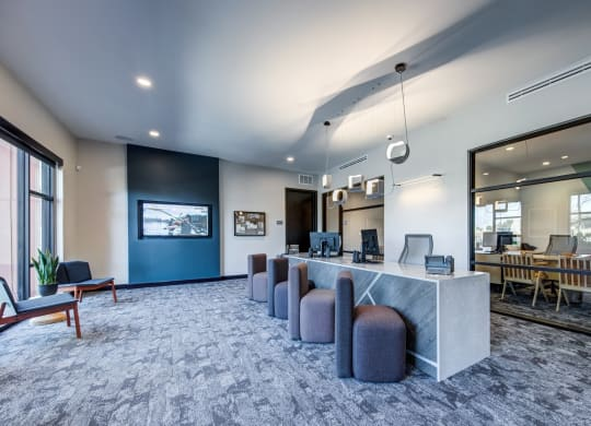 Inviting Reception Area at Windsor South Congress, Texas, 78745