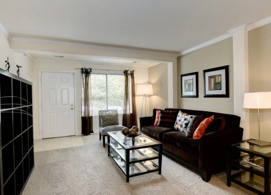 Enjoy an open living room perfect for entertaining